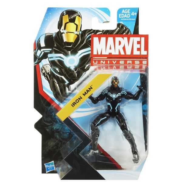 MARVEL UNIVERSE BLACK AND WHITE IRON MAN 10cm ACTIONFIGUR